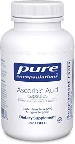 Pure Encapsulations - Ascorbic Acid Capsules - Hypoallergenic Vitamin C Supplement for Antioxidant Support* - 90 Capsules