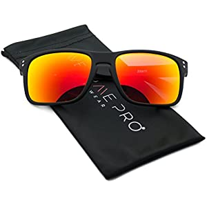 Active Sports Shades Fashion Sunglasses with Colorful Mirrored Lens