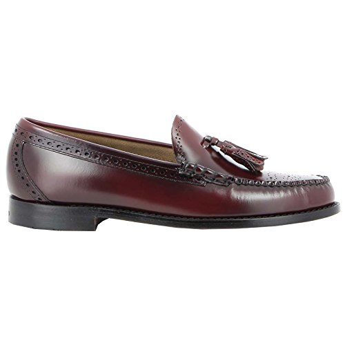G.H. Bass & Co. Mens Larkin Brogue Leather Shoes Wine Leather