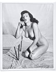 Pin-Up Icon Seductive Bettie Page Nude Photograph by Legendary Bunny Yeager Hand-Signed Autographed Lithograph
