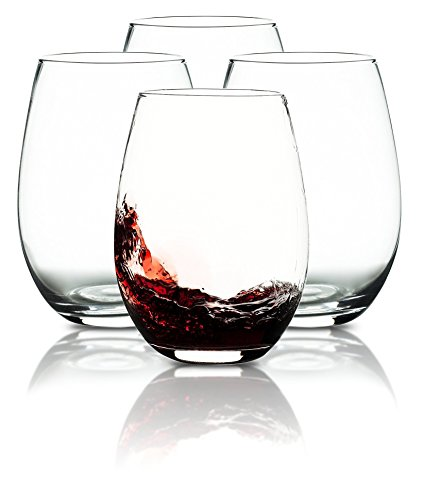 Liguan Wine Glass (Set of 4), 19Oz, Clear, Wine Tumbler Set]()
