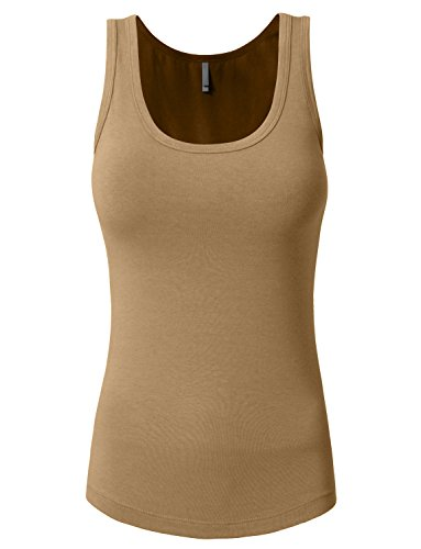 NE PEOPLE Solid Basic Relaxed Scoop Neck Tank Top 20 Colors