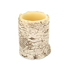 """Pack of 6 In the Birches Battery-Operated LED Flameless Christmas Holiday Pillar Candles 5"""""""