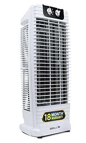 iBELL CYCLONE Tower Fan with 25 Feet Air Delivery, 4 Way Air Flow, High Speed,Anti Rust Body (White)