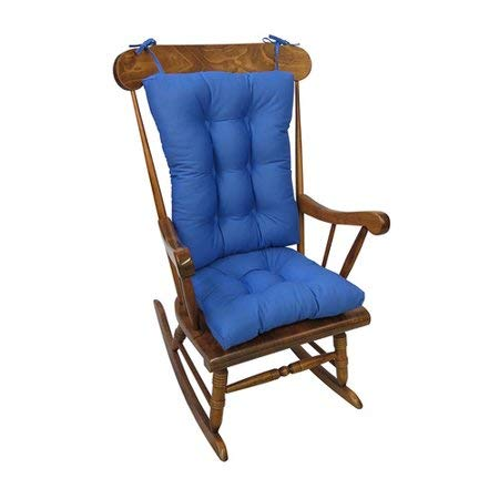 Klear Vu Rocking Chair Cushions Gripper Jumbo in Blue Summer