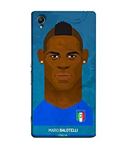 ColorKing Football Balotelli Holand 01 Blue shell case cover for Sony Xperia Z5