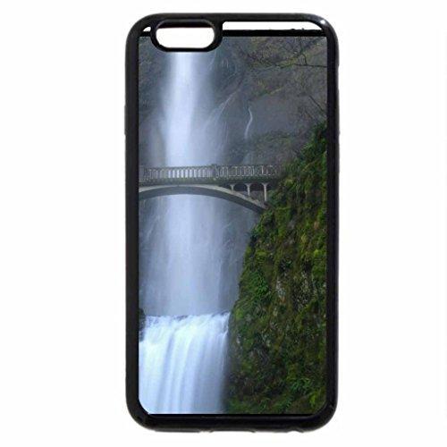 iPhone 7S / iPhone 7 Case (Black) BRIDGE OVER WATERFALL