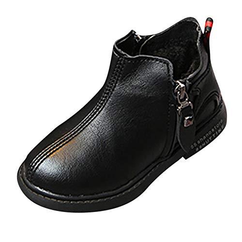 Todaies Children Kid Girls Boys Winter Warm Solid Star Sport Running Boots Shoes (Hilton Paris Fringe)