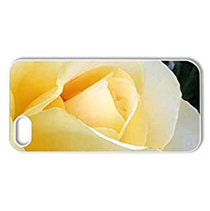 Sunny Rose - Case Cover for iPhone 5 and 5S (Flowers Series, Watercolor style, White)
