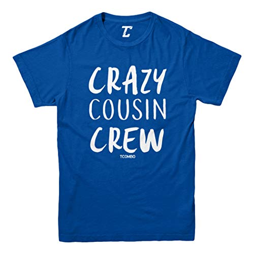Crazy Cousin Crew - Cute Funny Youth T-Shirt (Royal Blue, Medium)