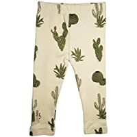 L'ovedbaby Unisex-Baby Organic Cotton Leggings (6-9 Months, Cactus)