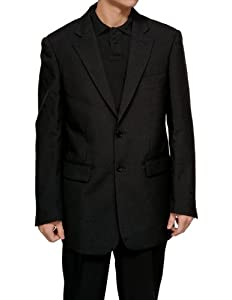 B00D3D3TYA New Men's 2 Button Single Breasted Black Dress Suit – Includes Jacket and Pants
