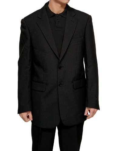 New Men's 2 Button Single Breasted Black Dress Suit - Includes Jacket and Pants (Fancy Dress Outlet)