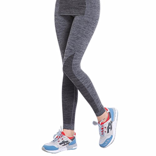 Women's Compression Screaming Base Layers Sports Trousers Gray