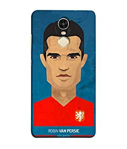 ColorKing Football Persie Holand 01 Blue shell case cover for Xiaomi Redmi Note 4