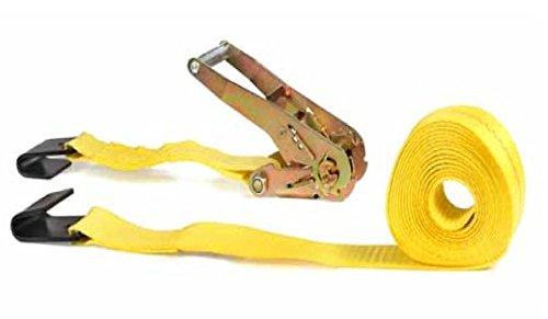 Mann Ratchet Tie Down Straps 4 Pack Flat Hook 27'X 2