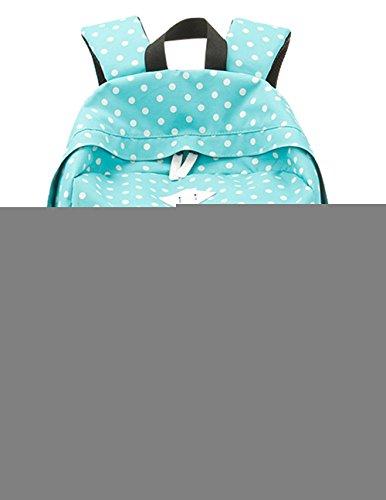 SAIERLONG Women's And Girl's Backpack School bag travel bag Blue Oxford