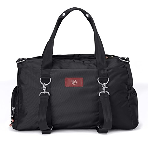 - Live Well 360 - The LUXX (Onyx Black) - Best Gym Duffel Bag for Men or Women - Bag with Shoe, Laptop & Wet Compartment - Perfect Sports or Workout Shoulder Bag with Multiple Compartments