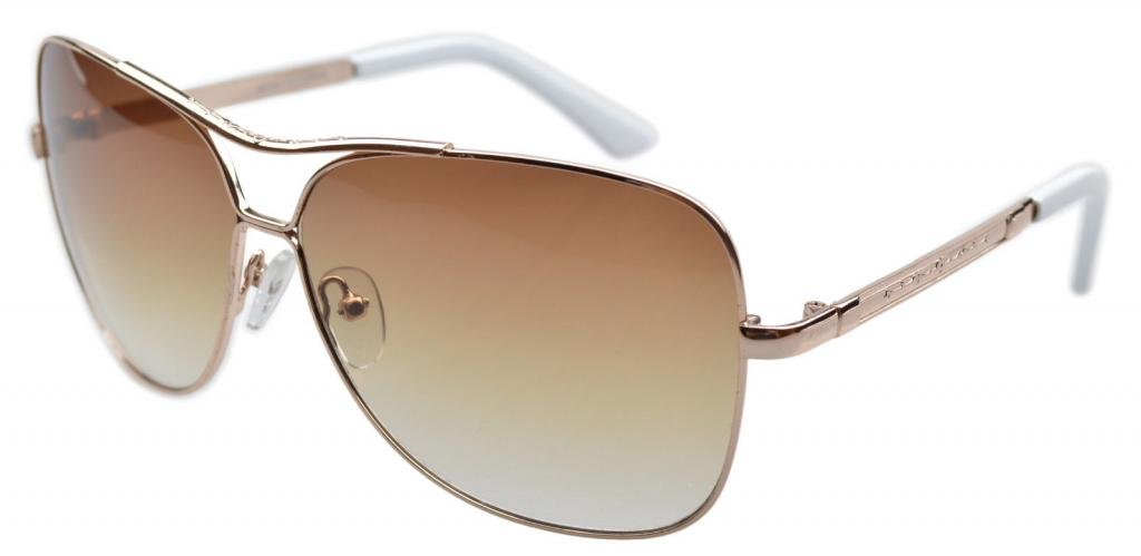 Eyekepper Lunettes de inoxydablecadre en acier CR-39 lentilles Lunettes de soleil aviateur Hommes Femmes - Or - 9639-Gold Frame, Taille unique