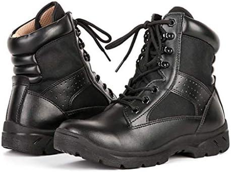持続可能な軍事用ゴムソールレースアップスタイルノンスリップ耐摩耗ライニングブラックジャングルブーツオックスフォード布ネットぬいぐるみのための戦術的なブーツ (色 : 黒, サイズ : 24 CM)