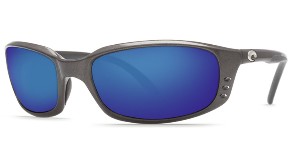 Costa Del Mar BR22OBMP Brine Sunglass, Gunmetal Blue Mirror