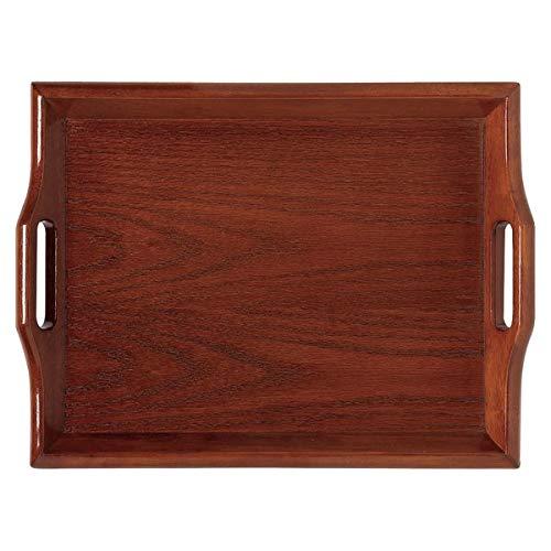 "TableTop King RST-2516-M 26 1/2"" x 16 1/2"" Hardwood Room Service Tray - Mahogany"
