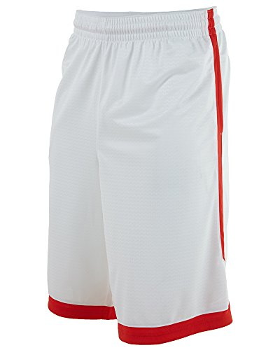 new styles 4b36a fbfe5 Mens Nike Lebron Relentless Basketball Shorts White Crimson Red 596475-100  Size Large - Buy Online in UAE.   Apparel Products in the UAE - See Prices,  ...