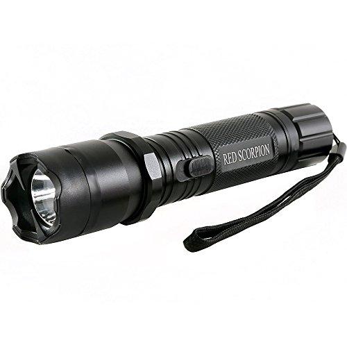 Gun Stun Scorpion - Red Scorpion Metal Stun Gun 1101-1000 Million Volts LED Tactical Rechargeable Flashlight (Black)