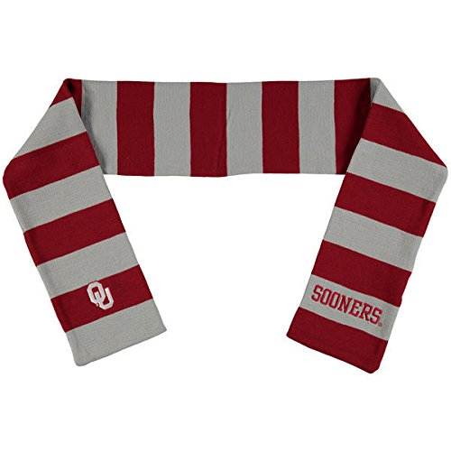 Rugby Oklahoma Sooners - Forever Collectibles Oklahoma Sooners Official NCAA Adult One Size Striped Rugby Scarf 380868