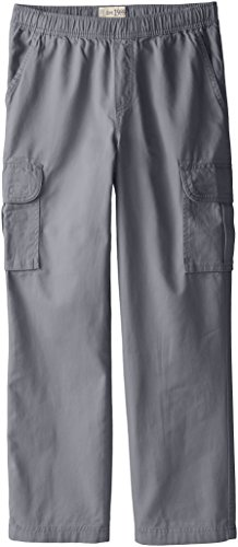 The Children's Place Big Boys' Pull-On Cargo Pant, Gray Steel, 12