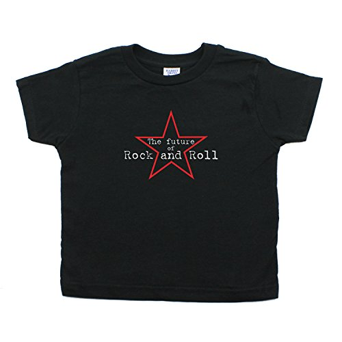Future of Rock and Roll Rockstar Kids Toddler Short Sleeve T-Shirt in Black, 3T -