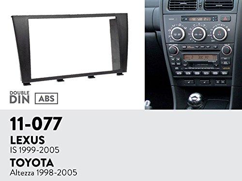 UGAR 11-077 Trim Fascia Car Radio Installation Mounting Kit for Lexus is 1999-2005/TOYOTA Altezza 1998-2005 ()