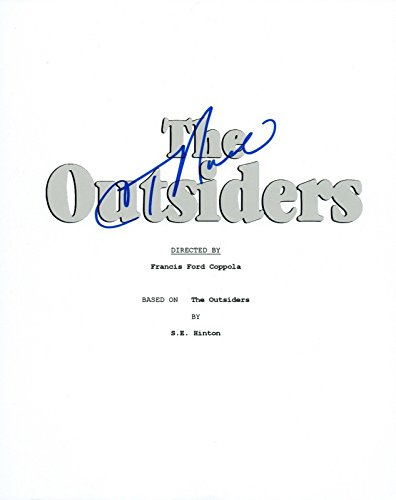 C. Thomas Howell Signed Autographed THE OUTSIDERS Movie Script COA VD
