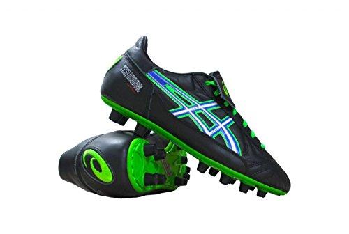 Asics - Botas de fútbol de Material Sintético para hombre Varios Colores Nero/Verde Nero - Verde - Blu