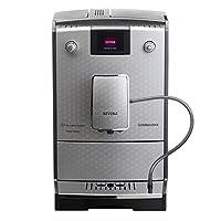 Nivona 300700768 - Máquina de café expreso, interruptor de luz en/off, voltaje de 230 V, reservorio de agua extraíble, color plateado