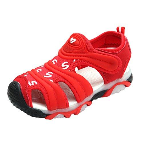 YiLianDa Kinder Geschlossene Sandalen Bequeme Kinderschuhe Sport Outdoor Sandalen Jungen Jungen Jungen Rot c4f95d