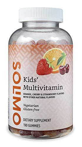 Amazon Brand – Solimo Kids' Multivitamin, 190 Gummies