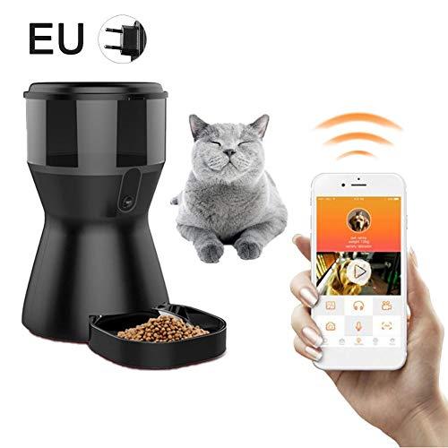 favourall Automatischer Futterautomat, Futterspender mit App Steuerung Geeignetes Nass- und Trockenfutter für Katzen…