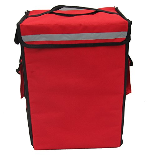 PK-33B: Drinking Delivery Backpack, Hot Food Bag, Small Pizza Delivery Bag, Side Loading,Zipper Closure, 13
