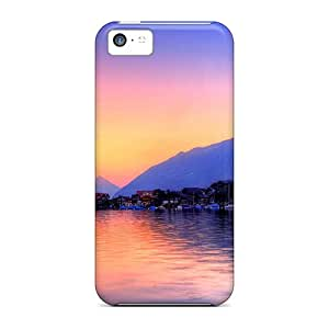 ORRICO Snap On Hard Case Cover City View Lake Protector For Iphone 5c