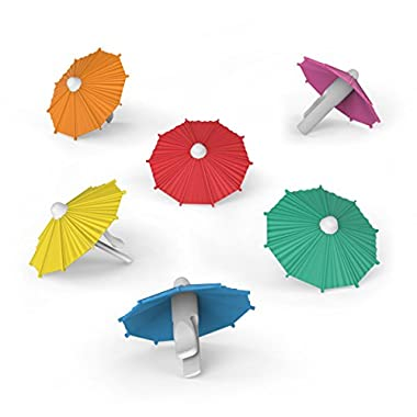 Fred & Friends MY TAI Umbrella Drink Markers, Set of 6