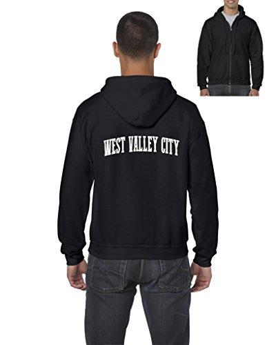 NIB West Valley City UT Utah Salt Lake City Map Home Of Aggies Utes Mens Hoodies Zip Up Sweater ()