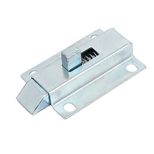 Door Metal Spring Latch Bolt Silver - 3