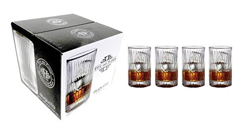 Fitz and Floyd Set of 4 Augusta Crystal Highball Glasses 12.75 Ounce