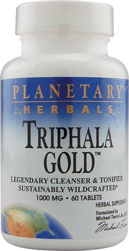 Tablets 60 Science (Planetary Herbals Triphala Gold™ -- 1000 mg - 60 Tablets)