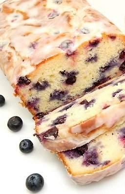 Blueberry Iced Loaf LARGE over 2 POUNDS Baked fresh and Delivered to your Door (Wedding Cookies Iced)