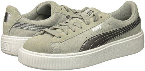 PUMA Womens Suede Platform Safari Wn Grey Size: 8.5 US 8.5
