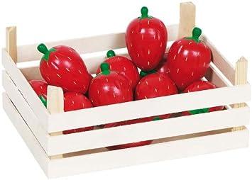 Goki - 51875 - Imitación - 12 cajas de fresas de madera: Amazon.es: Juguetes y juegos