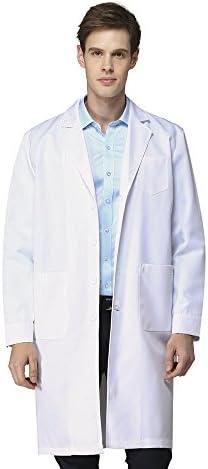 Laborkittel kittel Herren Damen Medizin Arztkittel Arbeitsmantel Labormantel Schutzkleidung für Labor weiß Baumwolle…
