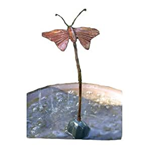 Ancient Graffiti Solid Copper Butterfly Dripper Fountain